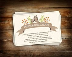 Please Bring a Book Instead of a Card Library by WorldOfThought