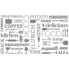 Gorsh.net | Vinilo Decorativo Trama cocina x 6 paños Kitchen Sign Diy, Kitchen Ideas, Breakfast Juice, How To Cook Burgers, Provence Style, Egg Coffee, Funky Furniture, Silhouette Projects, Vinyl Designs