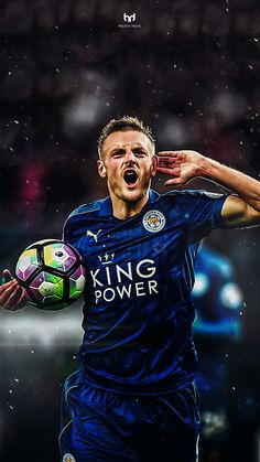 Jamie Vardy calling on his haters post scoring in the win against Swansea. Leicester City Fc, Leicester City Football, Football Players Images, Good Soccer Players, Best Football Players, Football Love, Football Design, Soccer World, World Football