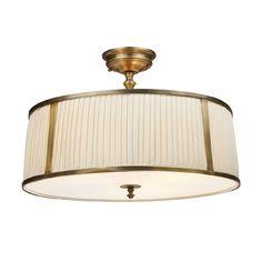 ELK Williamsport 4-Light Semi-Flush in Vintage Brass Patina
