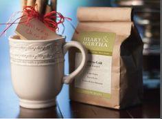 Sweet Idea for a gift.  the Gratitude Mug cinnamon wrapped in a bow and OUR COFFEE!!! Wow!! INTERESTED? CONTACT ME: Cathy Budjenska - mymaryandmartha.com/cbudjenska