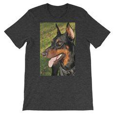 The Doberman Smile - Color - Short-Sleeve Unisex T-Shirt  #colors #photo #styles #items #unique #coolsrtuff #shop #products #photography #Exclusive