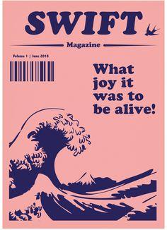 #magazine #layout #swift #pink #Navy #layout #print