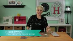 Heidi Swapp: Stamping with Color Shine. Watch how Heidi shares her tips and tricks for stamping using Color Shine as the ink! It's another f...