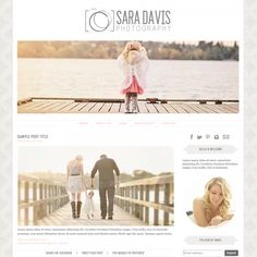 Sara Davis Blogger Template - Luvly Marketplace | Premium Design Resources #blogger #templates