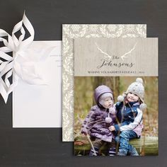 Antler Glam Holiday Photo Cards by Emily Crawford Christmas Photo Cards, Christmas Greeting Cards, Christmas Greetings, Wedding Stationery, Wedding Invitations, Cool Patterns, Card Ideas, Events, Holidays