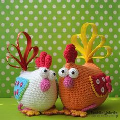 This crocheted hen is not only an Easter decoration :-) This colorful decoration will brighten your home:-) You could decorate your childrens room or place it on your table, anywhere you want. Its such fun to make this cheerful decoration. It is beginner friendly design. I hope that when