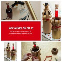 Come fare una confezione regalo per una bottiglia – Casa e Trend Christmas Countdown, Beer Bottle, Advent Calendar, Gifts, Bag, Recipes, Wrapped Wine Bottles, Decorated Bottles, Decorations