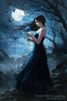 Fantasy Art Fairies Angels Ideas For 2019 Fantasy Art Women, Moon Art, Art Photography, Beautiful Fantasy Art, Gothic Fantasy Art, Female Art, Art, Fantasy Photography, Dark Art Drawings