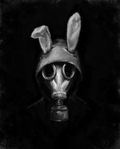 Gas mask bunny.
