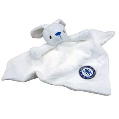 Chelsea baby comfort blanket in soft fabric with a bunny's head and featuring the club crest. FREE DELIVERY on all of our gifts