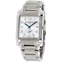 Baume Mercier Hampton Silver Dial Stainless Steel Men'S Watch M0A10047