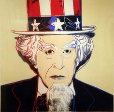 Uncle Sam, from Myths - Andy  Warhol - Gregg Shienbaum Fine Art, you can see more at: http://archesart.co.uk/Works/viewPrint/MTcwNTY=
