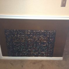 Rubber mat painted to hide AC return