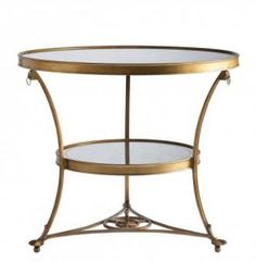 LA81329-01 Weston Center Table Dia 36 H 30 #3Foot Aged Gold Finish Lillian August Fine Furnishings Round Bedside #DiningHeight