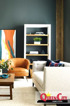 Living Room Sofa, Living Room Furniture, Dining Room, Woodbridge Furniture, Built In Bookcase, Wood Bridge, Living Room Inspiration, Design Inspiration, Upholstered Furniture