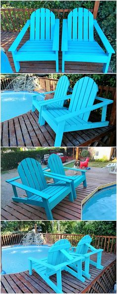 Having a wood pallet Adirondack chair pieces has come about to be one of the most unique furniture option for the house outdoor areas. This image will be making you give out the fantastic perfect option of the wood pallet Adirondack chair formation variation that is looking so brilliant.