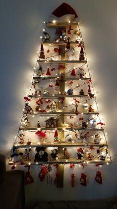 Onze eigen gemaakte kerstboom