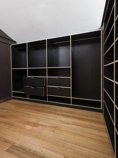Form ply joinery creates a second bedroom or walk in wardrobe. Built by The Great Australian Shelf for Mariana Hardwick.
