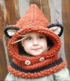 Crochet Fox Cowl Pattern