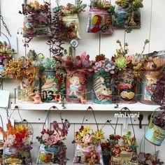. リメ缶ズララ〜✩︎⡱ #minivani #多肉 #多肉植物 #リメ缶 #リメ缶バッグ #リメイク #succulent #succulents…