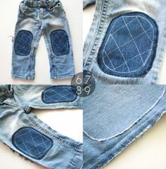 How To: Add Knee Patches to Jeans ▽▼▽ My Poppet : your weekly dose of crafty inspiration