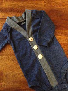 Baby Cardigan Onesie, Navy Infant Cardigan, Baby Boy, Child Cardigan, Long Sleeve Cardigan, Baby Shower Gift on Etsy, $19.00
