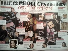 Red text colour underlays using 90 degree angles to step up - Now magazine 14/01/2013