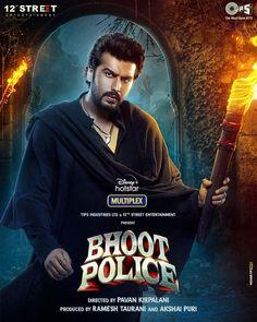 'BHOOT POLICE' NEW POSTER... ARRIVING ON DISNEY+HOTSTAR... #FirstLook: #ArjunKapoor as #Chiraunji in #BhootPolice... Costars #SaifAliKhan, #JacquelineFernandez, #YamiGautam and #JaavedJaaferi... Directed by Pavan Kirpalani... Coming soon on #DisneyPlusHotstar. Bollywood Images, Bollywood Actors, Arjun Kapoor, Behance, Disney Plus, Jacqueline Fernandez, Full Movies Download, New Poster, Supernatural