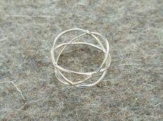 Three Circles Ring in Polished Gold Steel