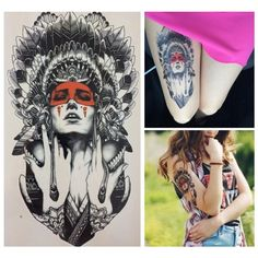Find More Temporary Tattoos Information about 21 X 15 CM Ancient women Sexy Cool Beauty Tatoo Waterproof Hot Temporary Tattoo Stickers,High Quality tattoo tips and tubes,China sticker motor Suppliers, Cheap tattoo stickers wholesale from top tattoo Store on Aliexpress.com