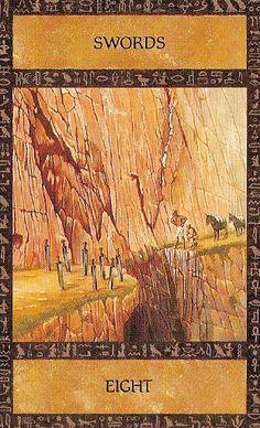 The Ancient Egyptian Tarot ► Eight of Swords