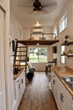 26 Chateau Shack Tiny Home on Wheels Mini Mansions Tiny Home Builders LLC Tiny House Loft, Best Tiny House, Modern Tiny House, Tiny House Living, Tiny House Plans, Tiny House Design, Tiny House On Wheels, Tiny Home Floor Plans, Tiny Loft