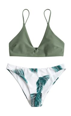 54feb84f71a Camouflage Green print bathing suit swimwear women Summer Bathing Suits,  Cute Bathing Suits, Summer