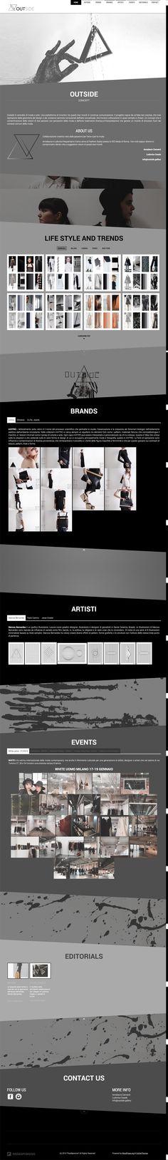 Sito web di presentazione per Outside Gallery - Roma - Homepage - Realizzato con Wordpress - Anno 2015