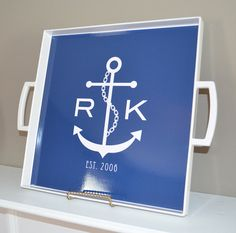 Personalized/ Monogram Melamine Square by LoveyDoveyCreations