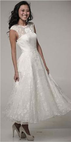 tea length dresses #wedding