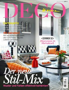 Deco Home | Deco Home is a Germany magazine that shows the latest residential materials, exclusive furniture and the international home trends and design ideas for the living room, the bathroom, the kitchen, the bedroom and the garden. | To see more news about the Interior Design Magazines in the world visit us at www.interiordesignmagazines.eu #interiordesignmagazines #designmagazines #interiordesign @imagazines