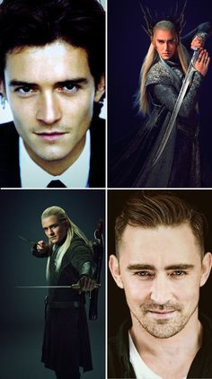 Legolas & Thranduil (Orlando Bloom & Lee Pace) I like them better as elves! Legolas And Thranduil, Aragorn, Tauriel, Le Hobbit Film, O Hobbit, Fellowship Of The Ring, Lord Of The Rings, J. R. R. Tolkien, Movies And Series