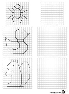Learning math, Math coloring, Math for kids, Educa Preschool Math, Kindergarten Worksheets, Teaching Math, Activities For Kids, Coding For Kids, Math For Kids, Visual Perception Activities, Graph Paper Art, Early Learning
