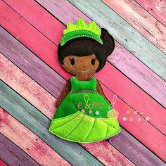 Tia Felt Doll Embroidery Design  5x7 Hoop or by EandMeDesigns