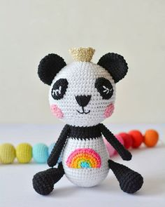 Amigurumi Patterns, Crochet Patterns, Cute Panda Wallpaper, Panda Wallpapers, Summer Time, Hello Kitty, Teddy Bear, Concept, Silver Lining