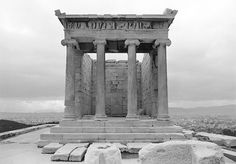 Socratis Mavrommatis (Greek, born 1949), Temple of Athena Nike, post-intervention, n.d., archival pigment print on paper. Image, courtesy of the Acropolis Restoration Service.