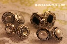 Button earings and other cute DIY stuff.
