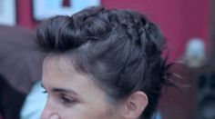 Amelie chignon on short hair by Cut by Fred