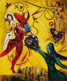 LOVE, LOVE, LOVE him! Marc Chagall  ~ La Danse, 1950