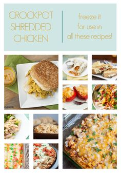 crockpot shredded chicken + recipes to use it in