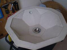 Concrete truncated icosahedron sink  geometrix  by geometrixcity, £250.00