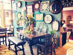 clock wall! and Dining!!