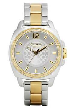 Have to love a sale...COACH 'Boyfriend' Crystal Detail Bracelet Watch available at #Nordstrom my favorite coach watch